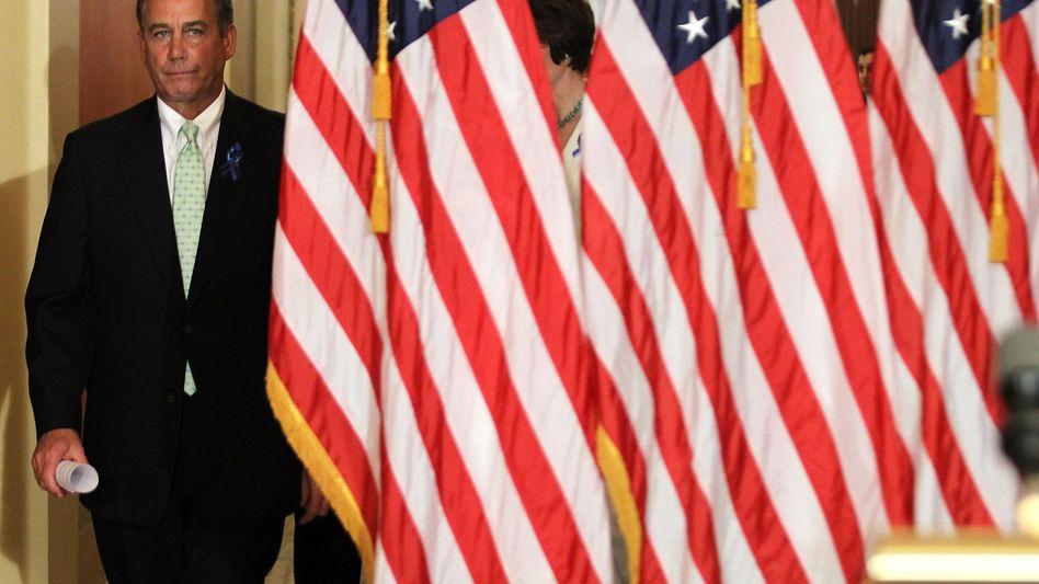 John Boehner, republikanischer Präsident des Repräsentantenhauses: Blockade im Schuldenstreit