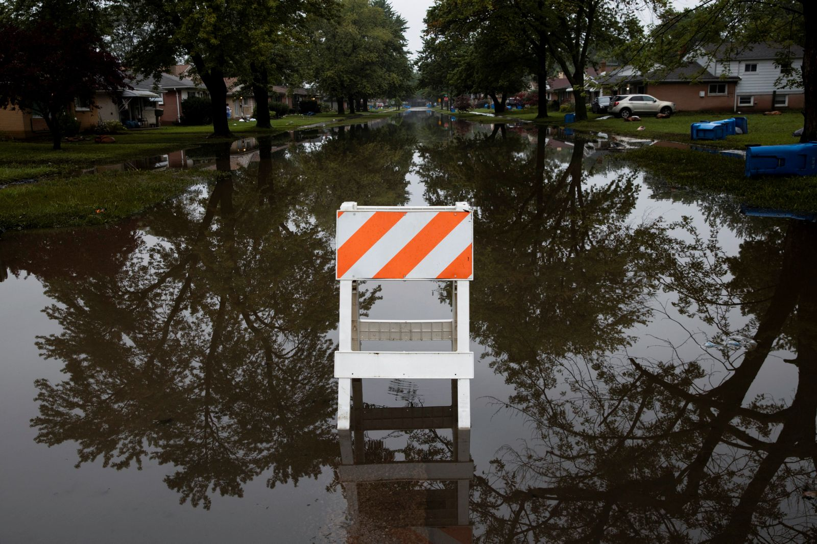 Severe flooding caused by heavy rain in Dearborn Heights