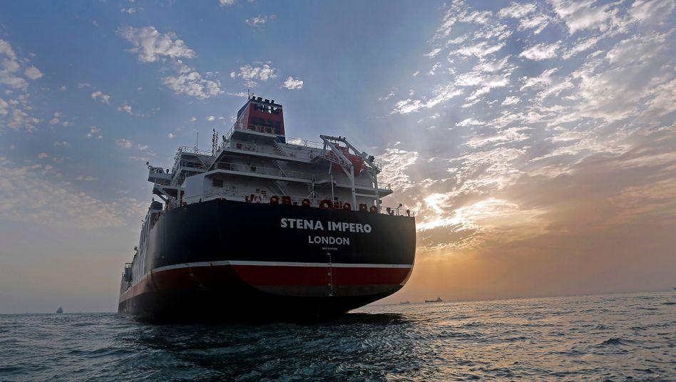 """""""Stena Impero"""" am Hafen von Bandar Abbas: London forderte britische Schiffe auf, die Straße von Hormus und umliegende Gewässer zu meiden"""