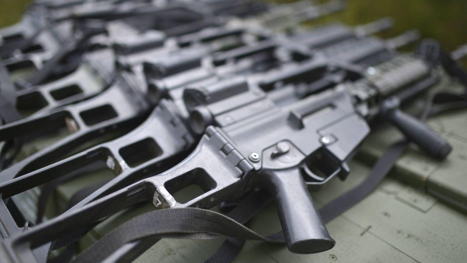 Sturmgewehr G36 des Herstellers Heckler & Koch: Deutsche Waffenexporte steigen