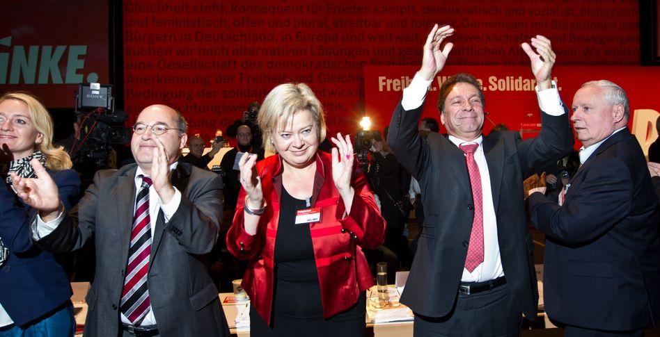 Linken-Politiker Gysi, Lötzsch, Ernst, Lafontaine: Die Einigkeit der Partei ist offenbar fragil