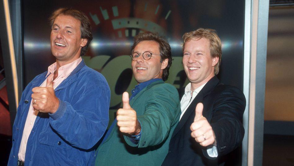 Das ist Sat.1 (1993): Jörg Wontorra, Reinhold Beckmann und Johannes B. Kerner