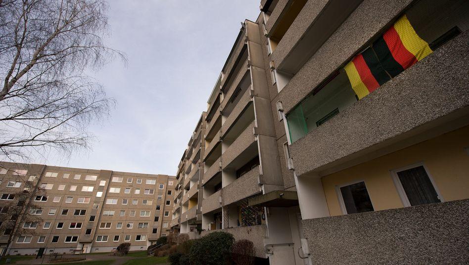 Hinterhof in Leubnitz-Neuostra: Hier wurde die Leiche gefunden