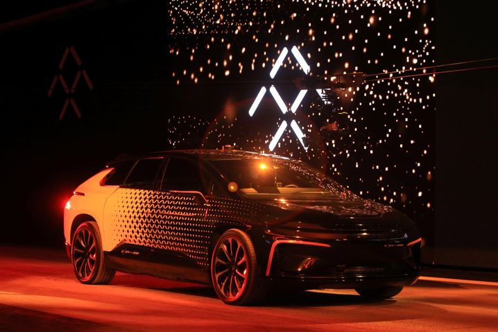 Präsentation des Faraday Future FF 91 in Las Vegas