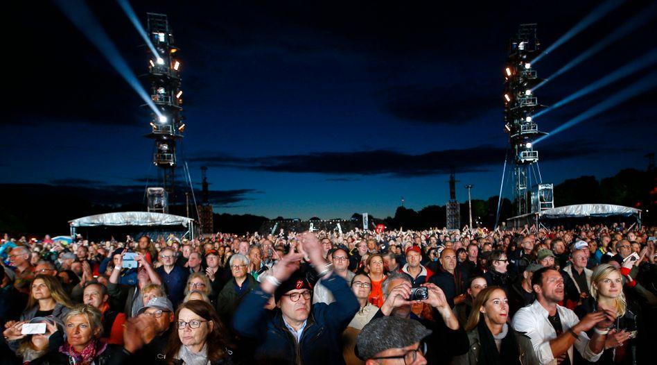 Besucher des Konzerts der Rolling Stones in Hamburg 2017