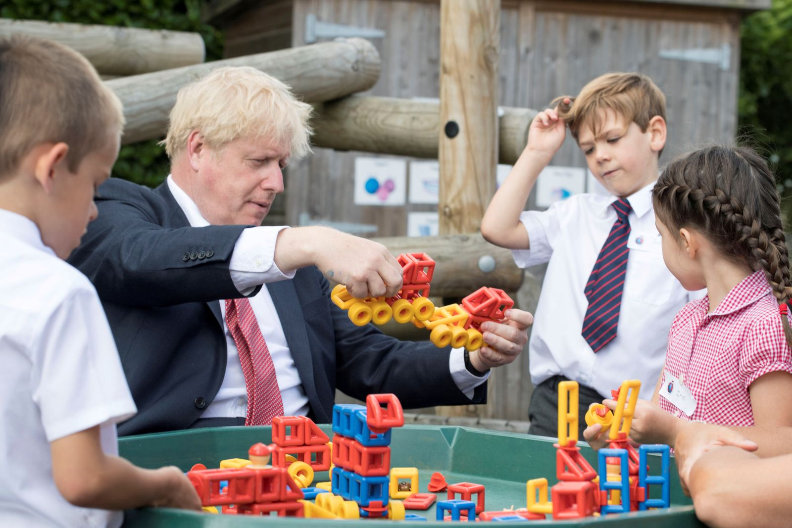 FILE PHOTO: Britain's PM Johnson visits school in Kent