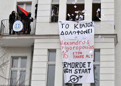 Griechisches Konsulat in Berlin: Besetzer verhalten sich friedlich
