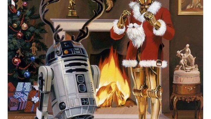 Imperiale Weihnachtsgrüße: Rentiere im Weltall