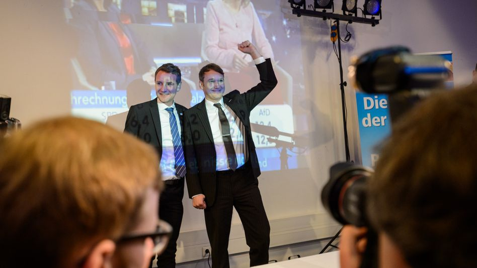 Björn Höcke (links) und André Poggenburg