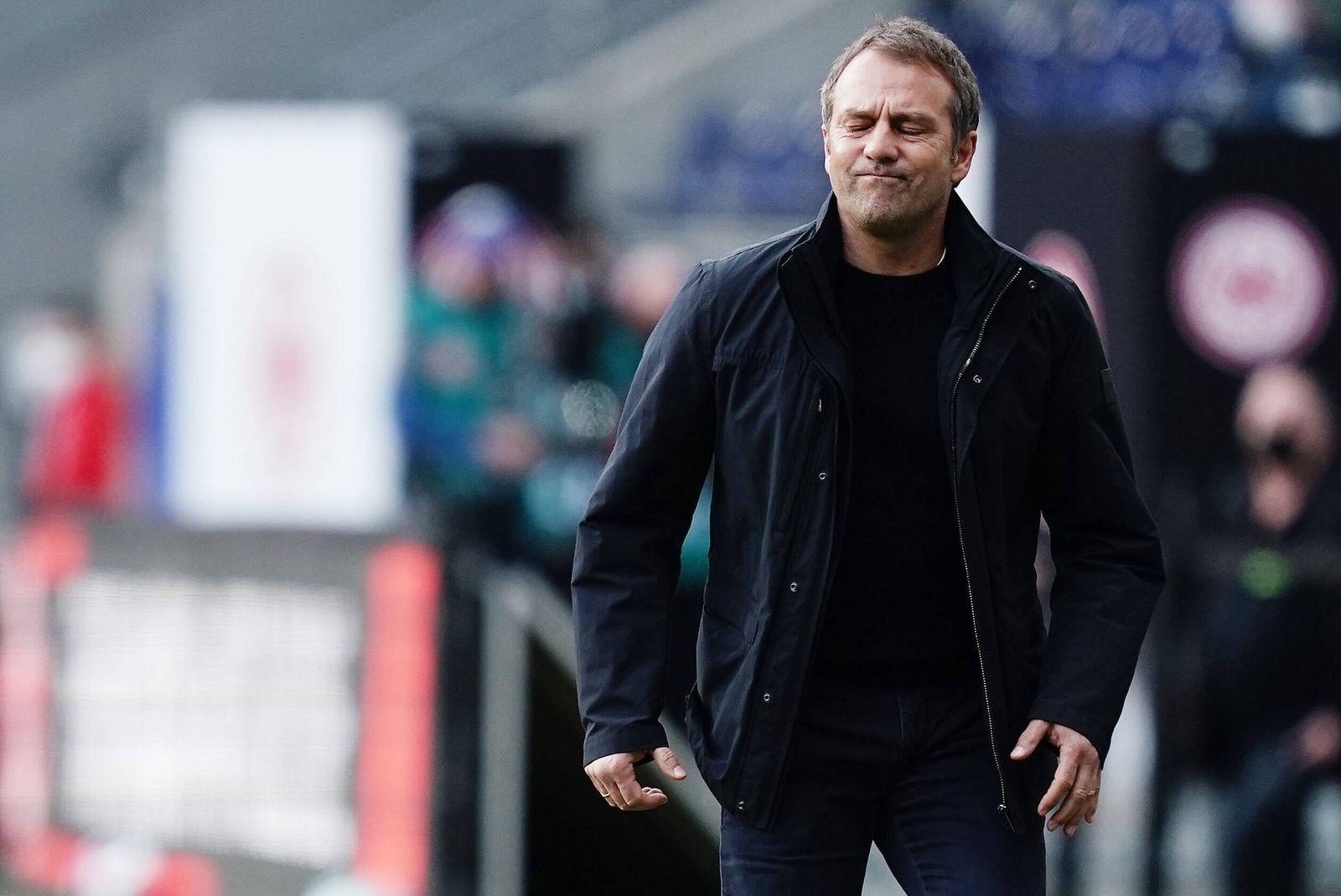 Fussball Trainer Hans-Dieter Hansi Flick (Bayern) Frankfurt, 20.02.2021, Fussball, Bundesliga, Eintracht Frankfurt - FC