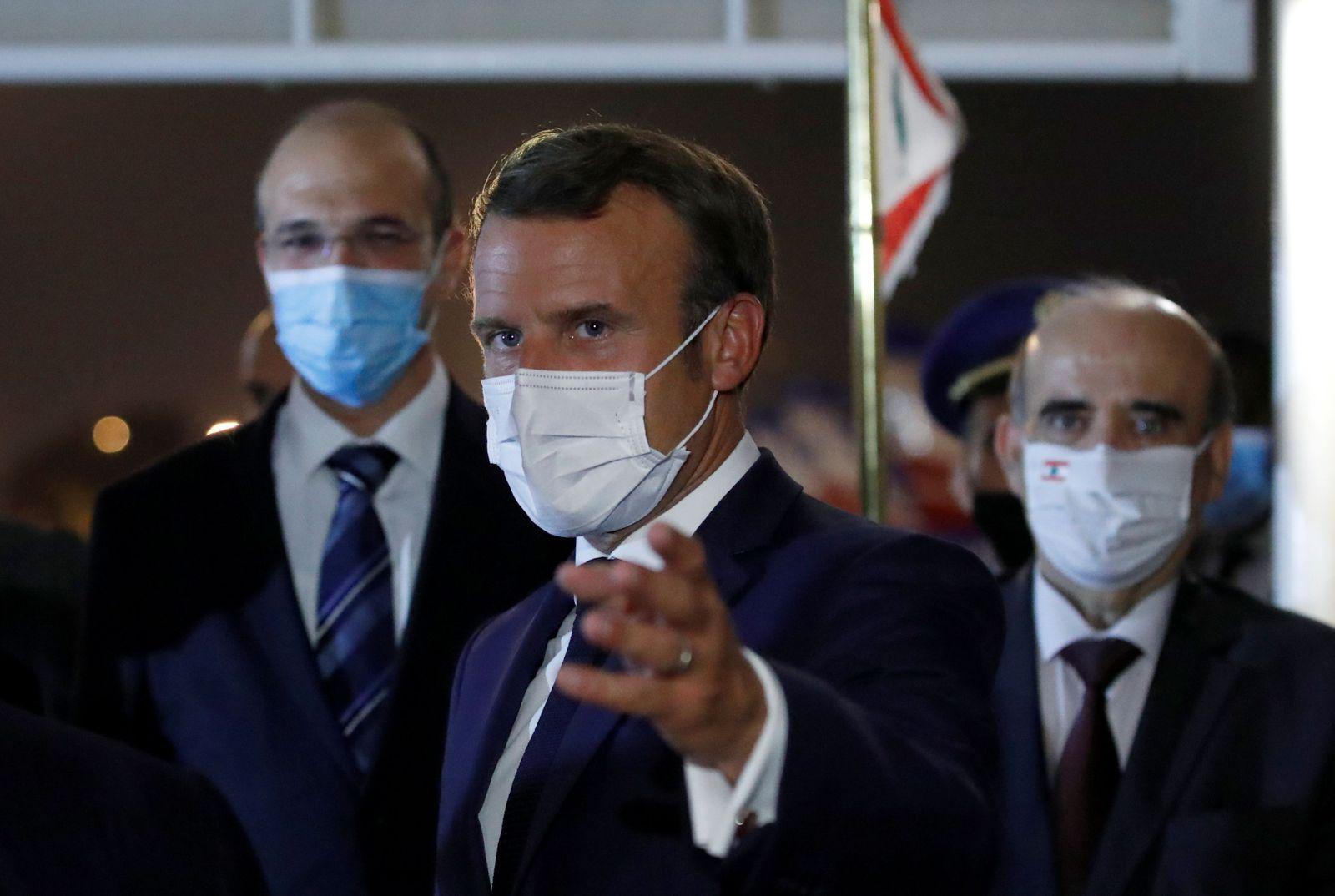 Emmanuel Macron visits Beirut, Lebanon - 31 Aug 2020