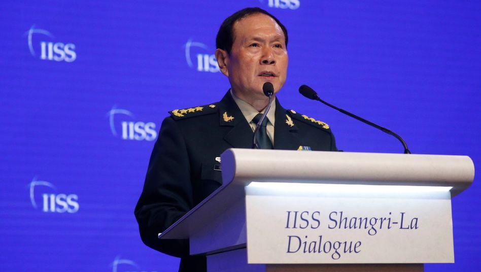 """Chinas Verteidigungsminister Wei Fenghe: Hartes Durchgreifen habe """"Stabilität und Entwicklung"""" gebracht"""