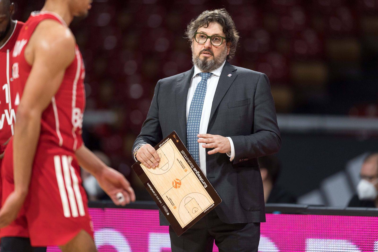 Basketball, Euroleague, day0}.04.2021, FC Bayern München - Zalgiris Kaunas. Im Bild Head Coach des FC Bayern München And