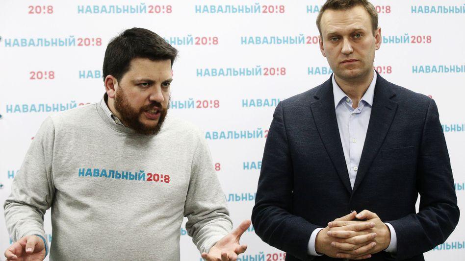 Oppositionspolitiker Leonid Wolkow, Alexej Nawalny (2017)