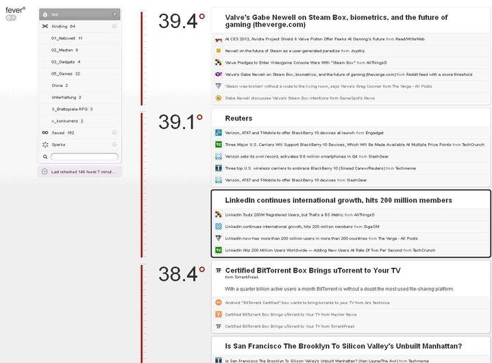 Fever: Der RSS-Reader läuft im Browser, muss aber selbst gehostet werden