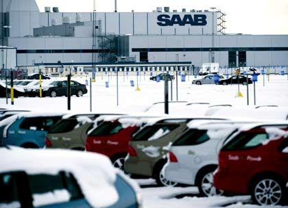 Saab-Werk in Trollhättan: Produktion kurz ausgesetzt