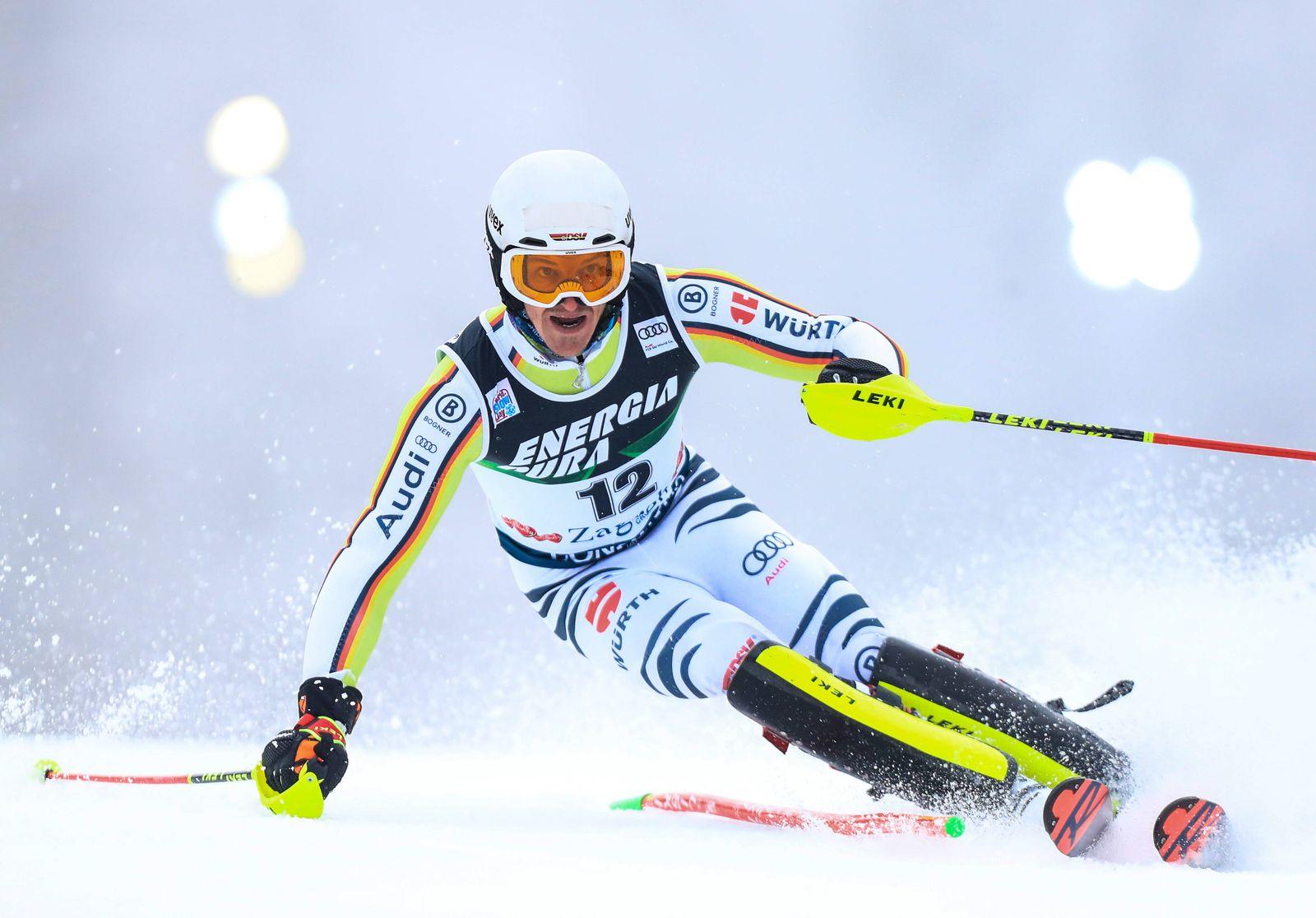 Audi FIS Alpine Ski World Cup - Men s Slalom ZAGREB, CROATIA - JANUARY 06: Linus Strasser of Germany during the Audi FIS