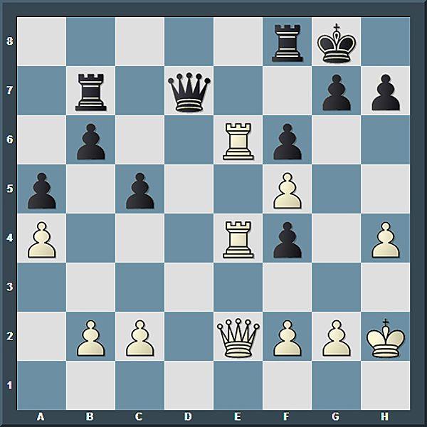 Maximale Dominanz der weißen Schwerfiguren, die die e-Line beherrschen. Die Drohung, auf der 7. Reihe einzudringen lähmte das schwarze Spiel.