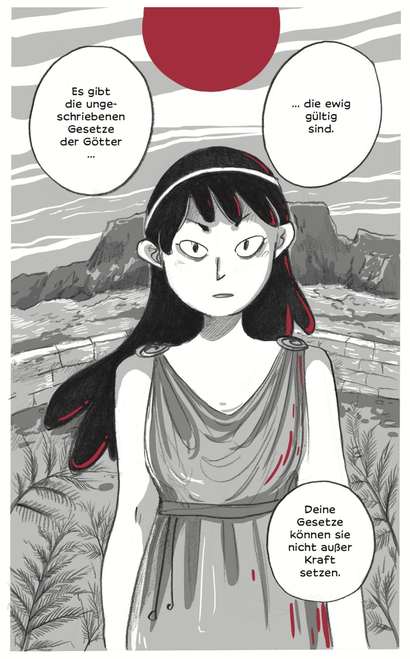 EINMALIGE VERWENDUNG Kultur/ Comics/ Antigone
