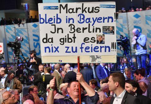 Die CSU-Basis in Passau will Söder in Bayern behalten