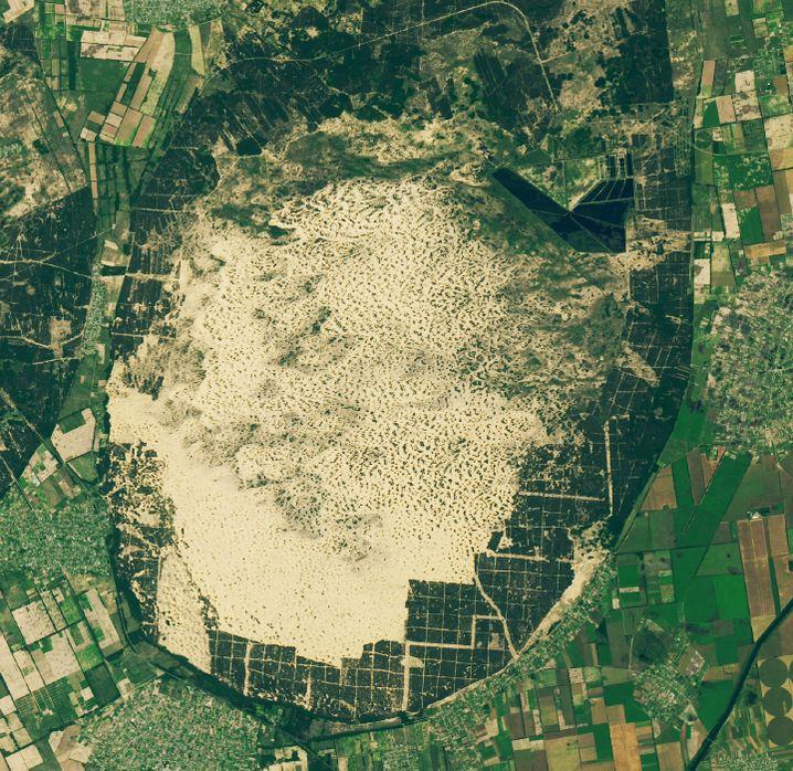 Satellitenbild der Woche: Europas Miniwüste