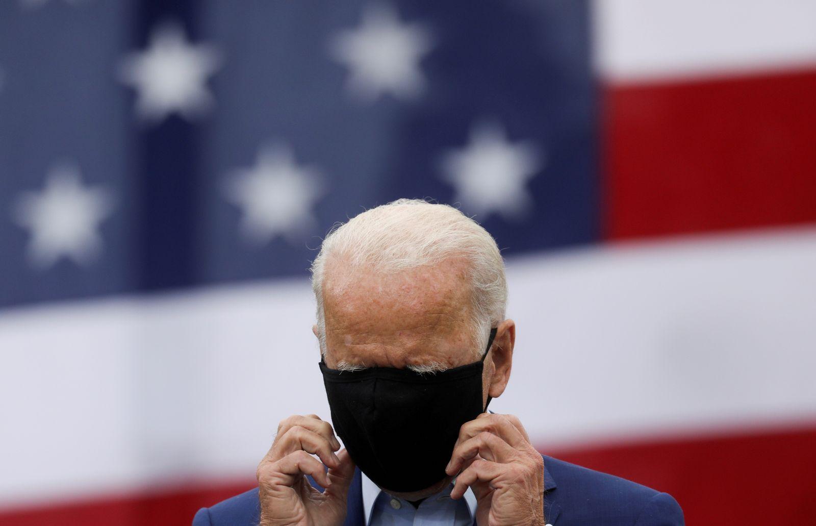 Democratic U.S. presidential nominee Joe Biden campaigns in Warren, Michigan