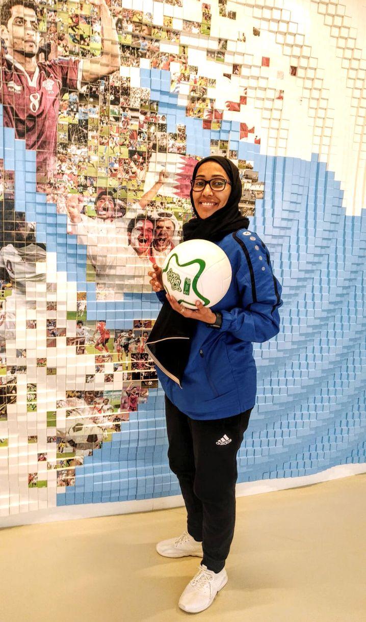 Shaima Abdullah, Torhüterin der katarischen Fußball-Nationalmannschaft