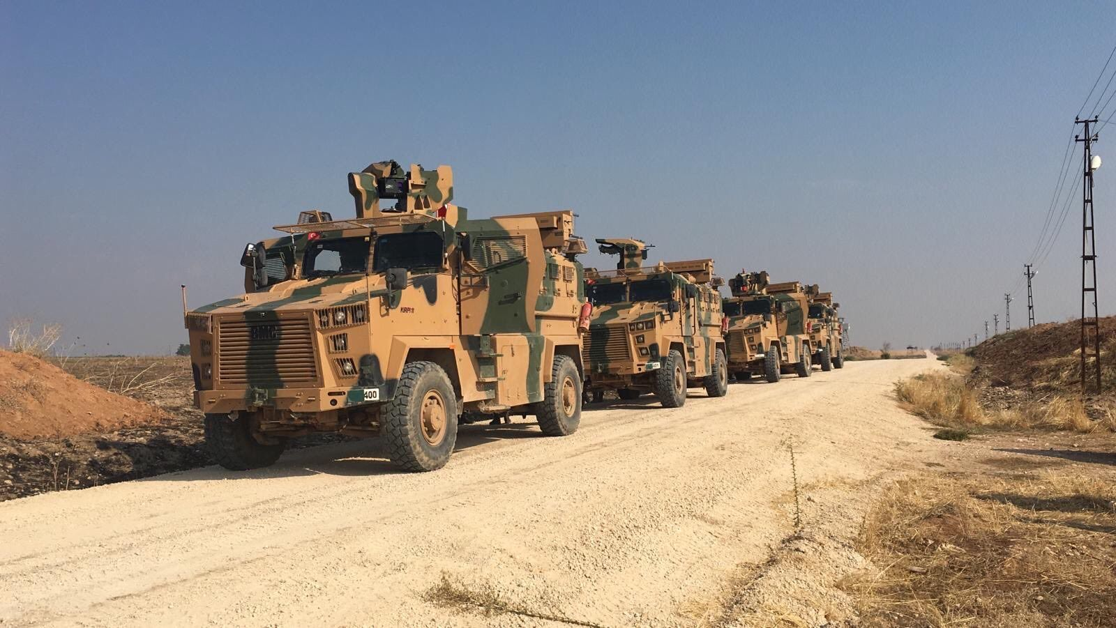 Türkei Russland Partouille Nord-Syrien