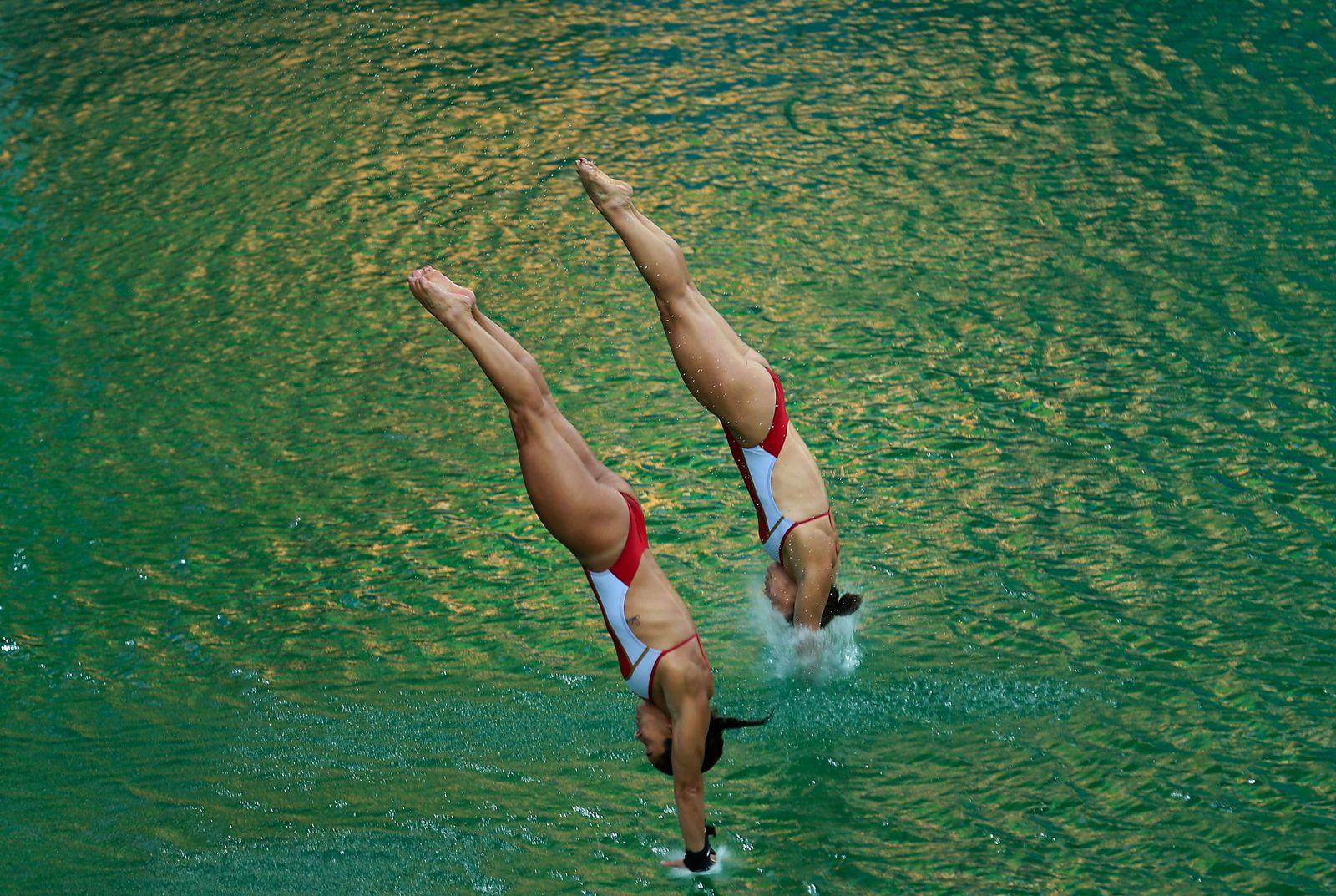 Rio 2016/ Wasserspringen/ grünes Wasser