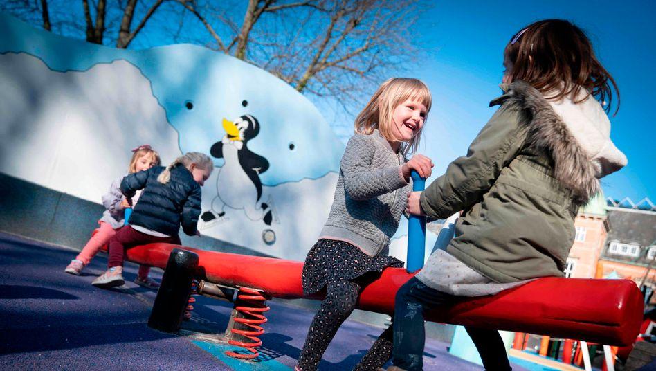 Kita-Kinder in Kopenhagen: In Dänemark sind die Einrichtungen für die Kleinsten bereits seit Mitte vergangener Woche wieder geöffnet