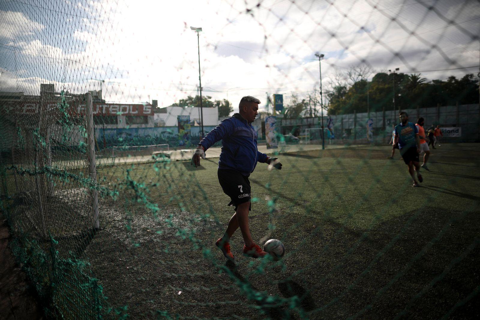 Virus Outbreak Argentina Soccer