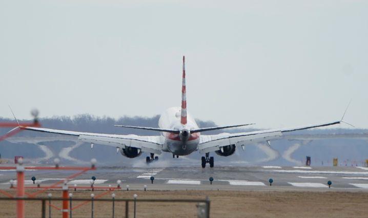 Eine Boeing 737 Max vor der Außerkraftnahme im März