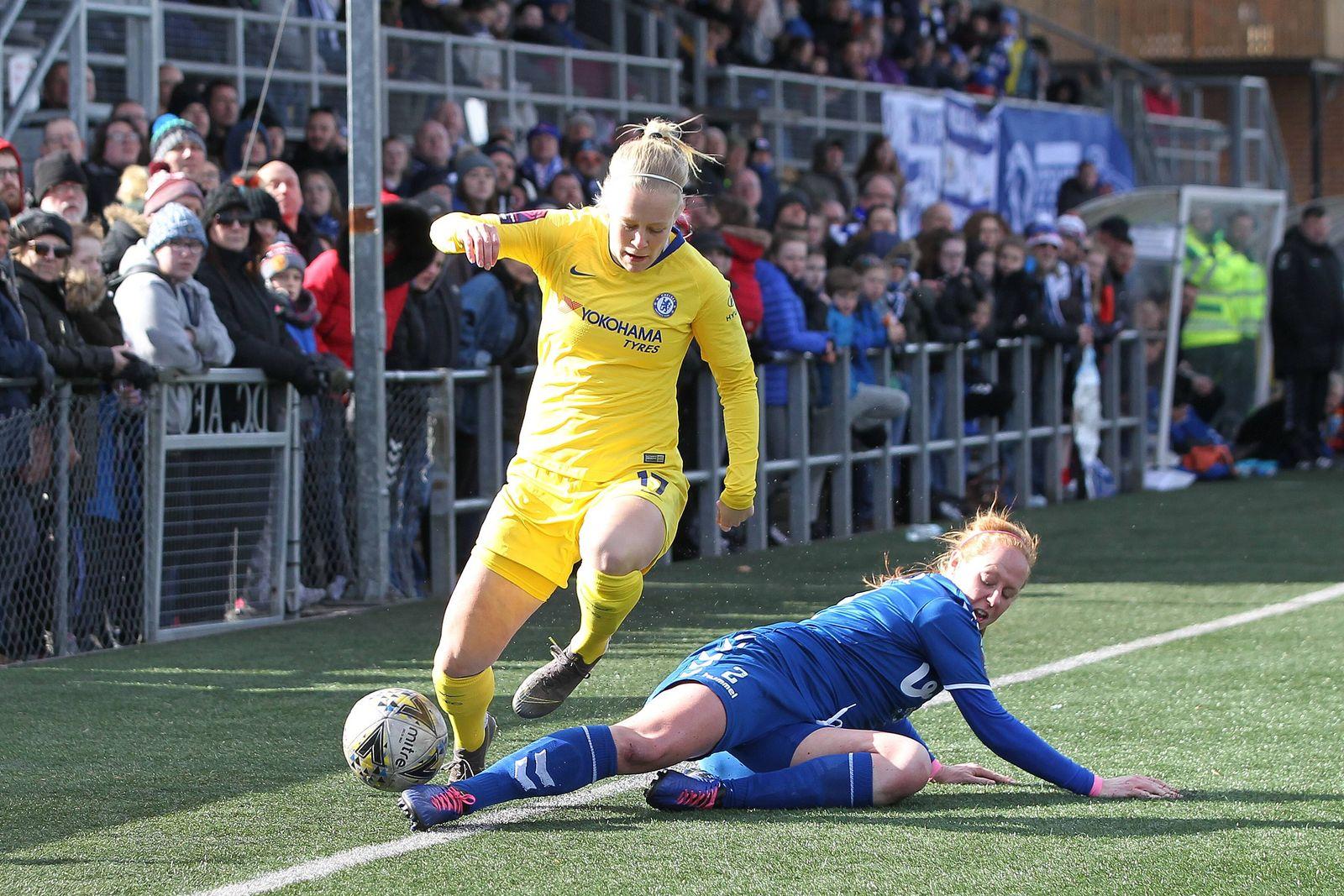 EINMALIGE VERWENDUNG FC Chelsea/ Frauen/ Durham