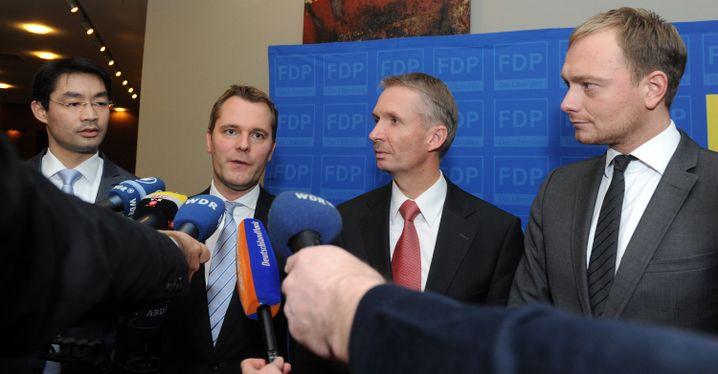FDP-Politiker Rösler, Bahr, Papke und Lindner in Düsseldorf (Archivbild 2012)