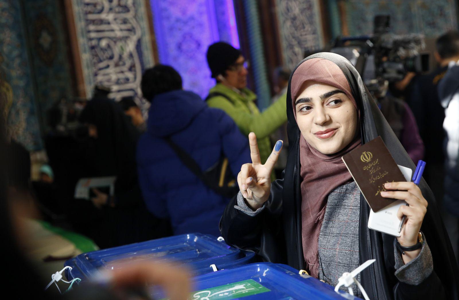 Parliamentary election in Iran, Tehran, Iran Islamic Republic Of - 21 Feb 2020