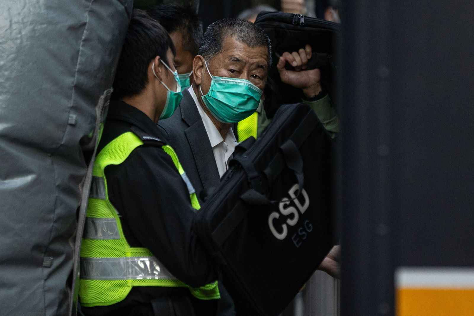 Jimmy Lai leaves the Court of Final Appeal in Hong Kong, China - 01 Feb 2021