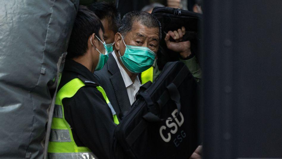Inhaftierter Jimmy Lai (Archivaufnahme)
