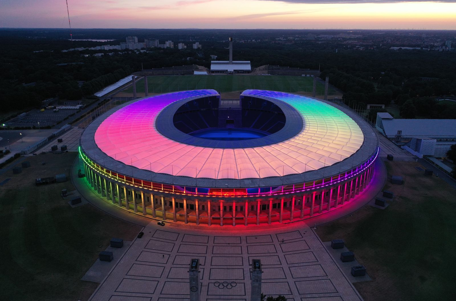 German Landmarks Decorated In Support Of LGBT Equality