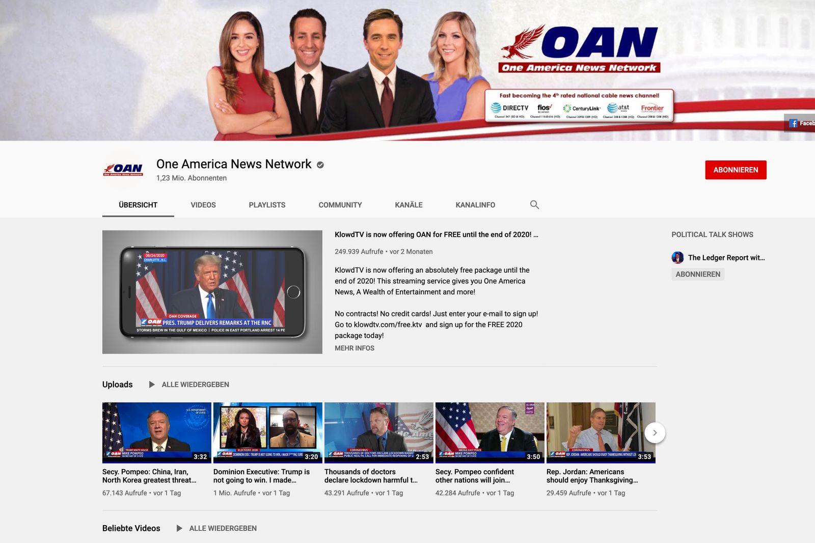 One America News Network SCREENSHOT