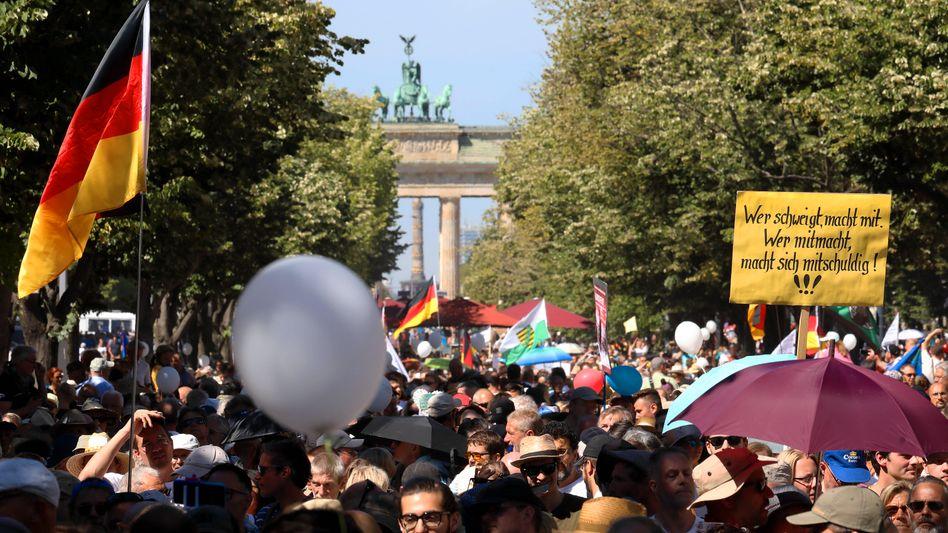 Proteste gegen die Corona-Einschränkungen in Berlin