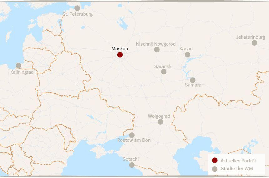 Karte Russland WM Städte Moskau