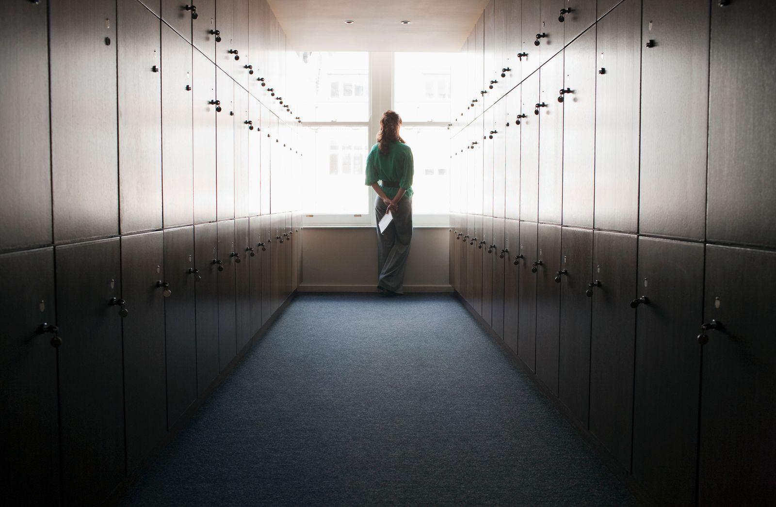 Women in a locker room
