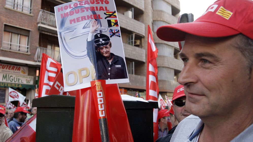 Spanien: Massive Proteste gegen Merkel