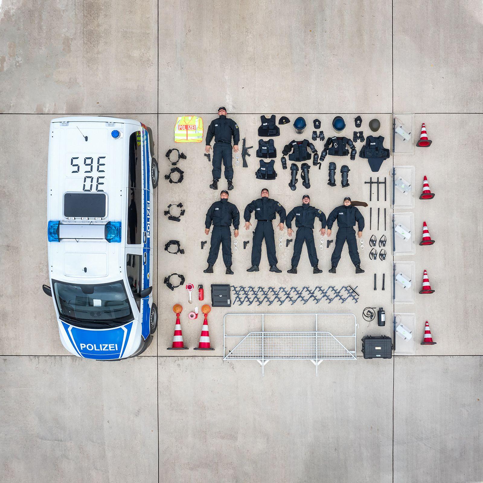 Bundespolizei in Duderstadt bei #TetrisChallenge