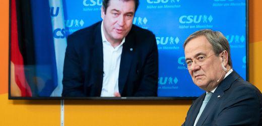 Armin Laschet, Markus Söder und die Kanzlerfrage: Umfrage zeigt klare Vorteile für Söder