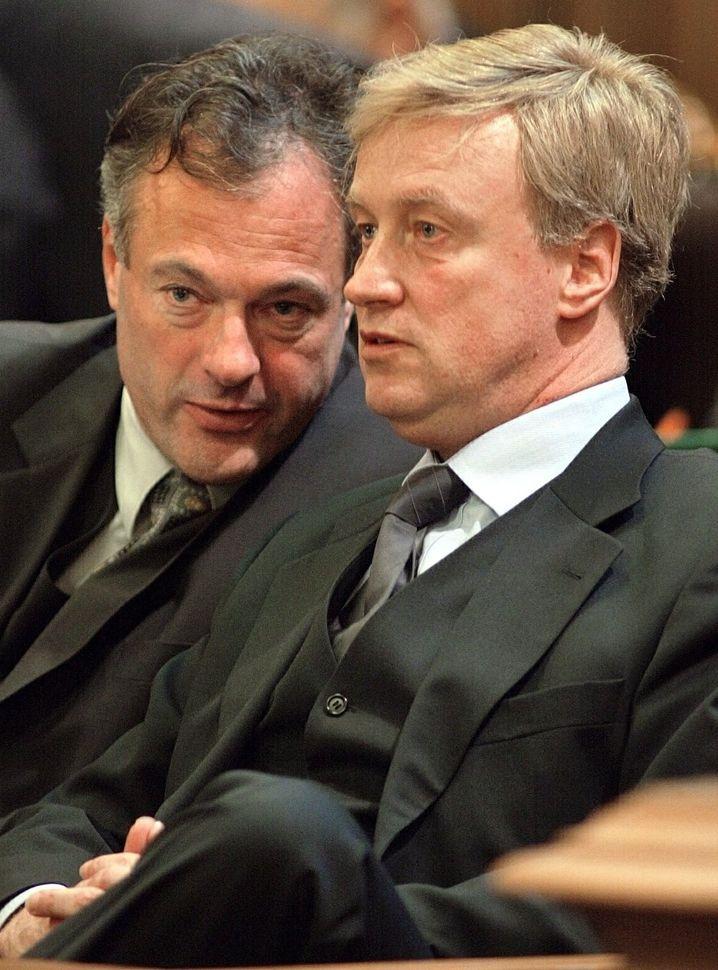 Hamburgs ehemaliger Innensenator Ronald Schill, Bürgermeister von Beust (2002)