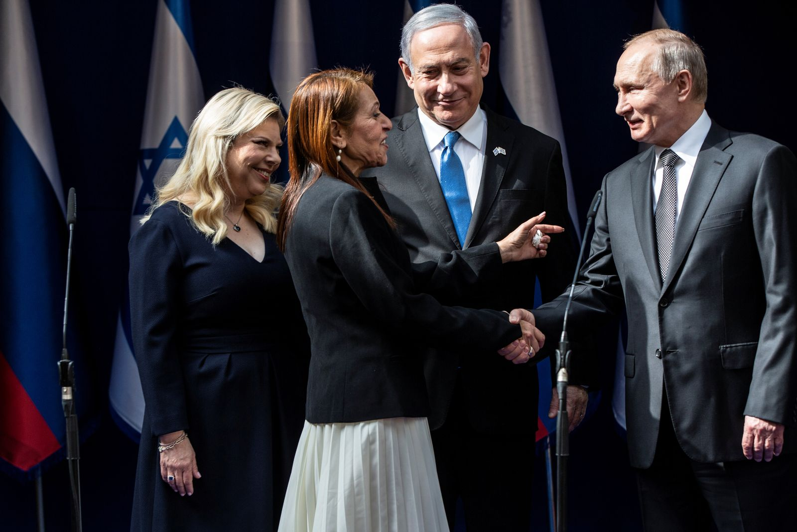 Israeli PM Netanyahu receives Russian President Putin ahead of the World Holocaust Forum at the Yad Vashem memorial centre in Jerusalem