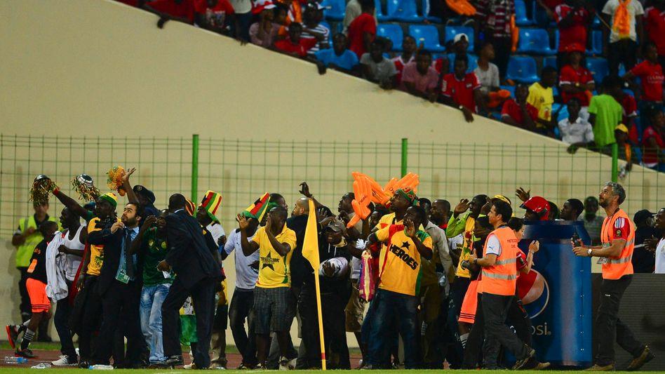 Ghanaische Fans am Spielfeldrand: Ihr Team gewann gegen Äquatorialguinea