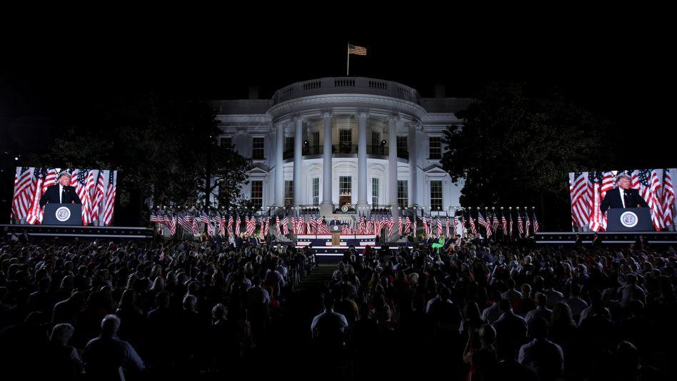 US-Präsident Donald Trump, Unterstützer beim Nominierungsparteitag der Republikaner im August 2020