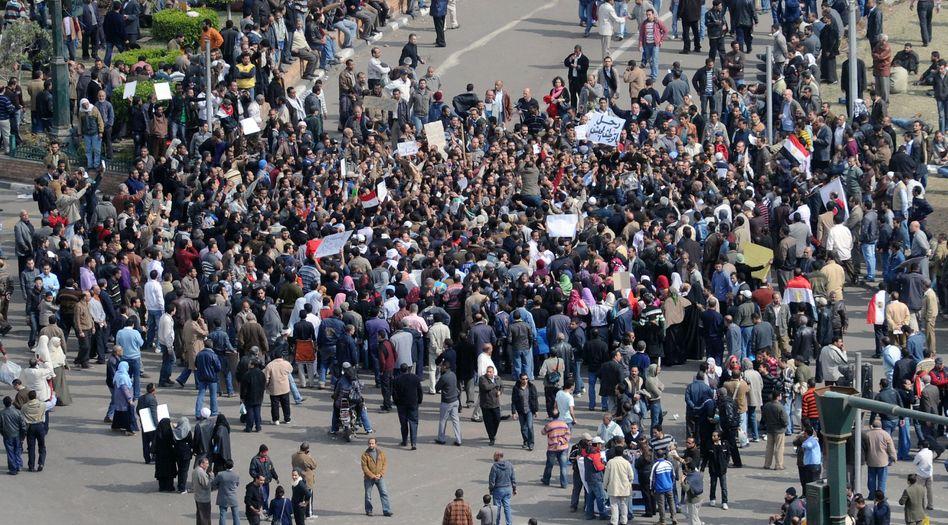 Demo auf dem Tahrir-Platz: Ägyptens Islamisten schlossen sich erst spät den Protesten an